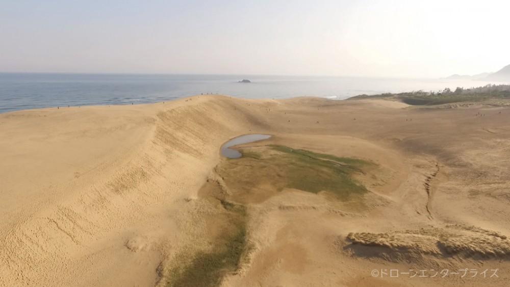 鳥取砂丘の空撮