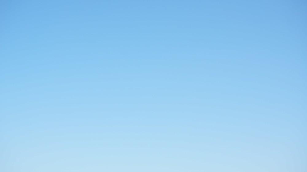 雲一つない晴天