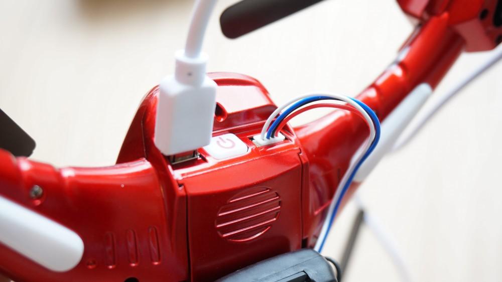 USBで充電