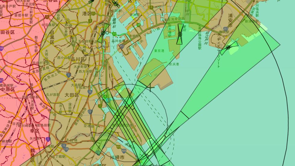 東京湾の羽田空港